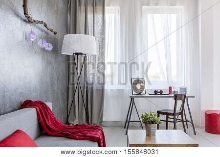 Ascetic Home Interior In Grey