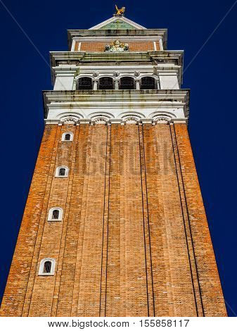 St Mark Campanile In Venice Hdr