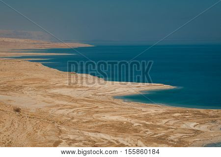 Landscape of the Dead Sea, Israel. The Judean desert near the Dead Sea