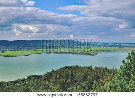 View to Lake Kochelsee in upper Bavaria,Germany