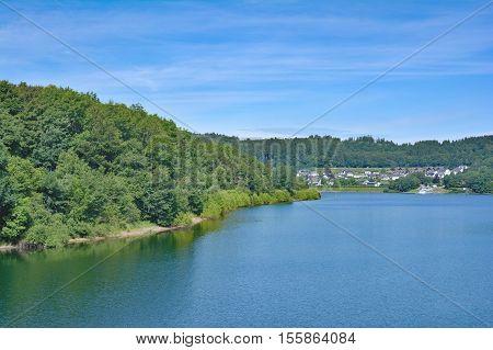 Village of Sondern at Biggesee Reservoir in Sauerland,North Rhine Westphalia,Germany