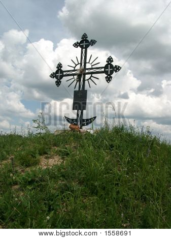 Memorable Cross In Steppe