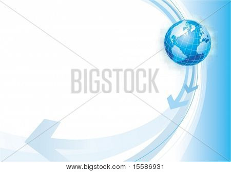 Vector illustration with globe