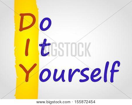DIY acronym. Do it yourself vector concept.