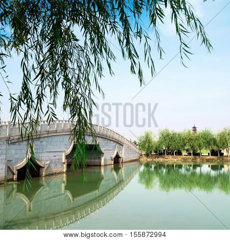 The world-famous gardens in Suzhou China-style park.
