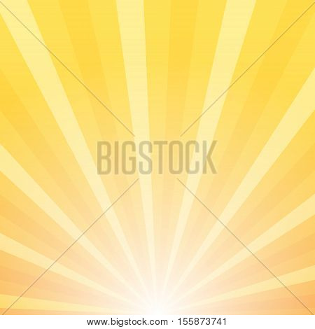 Sunray vector background sunrise and sunset composition 2d vector illustration of colored background eps 10