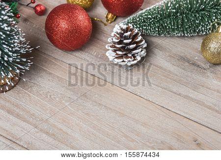 studio shot of christmas ornaments,retro style.
