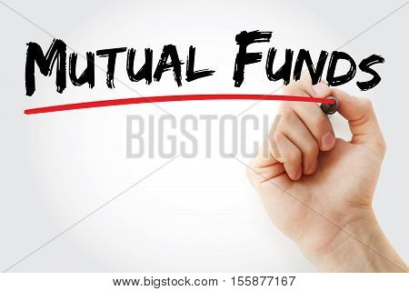 Hand Writing Mutual Funds With Marker