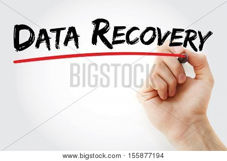 Hand Writing Data Recovery With Marker