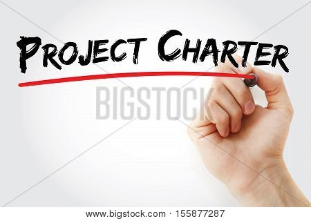 Hand Writing Project Charter With Marker
