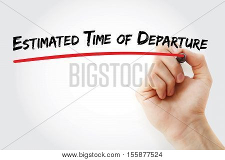 Hand Writing Estimated Time Of Departure