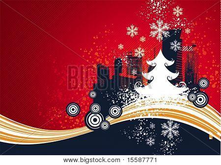 Kerstmis ontwerp met boom