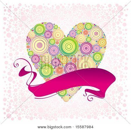 San Valentín & cinta, vector illustration