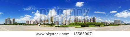 Urban landscape modern city views. Very good advertising material.