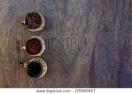 Coffee cup beans and ground coffee coffee espresso grain natural caffeine aroma