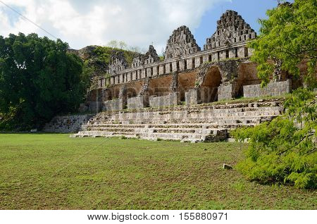 House of the Pigeons in the Maya city of Uxmal Yucatan. Mexico.