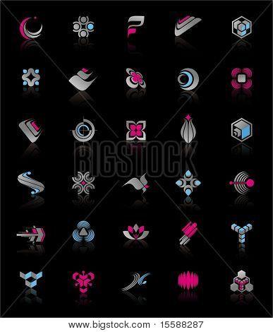 Logos on black background (set #1)