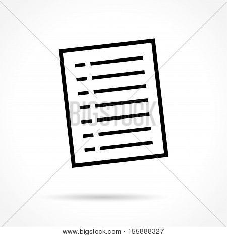 Illustration of document icon on white background