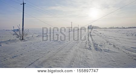 beautiful snowy expanses of the Russian winter