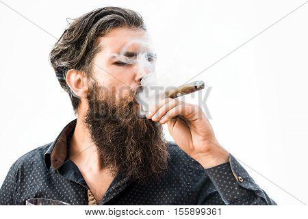 Tough Rich Man With Cigar