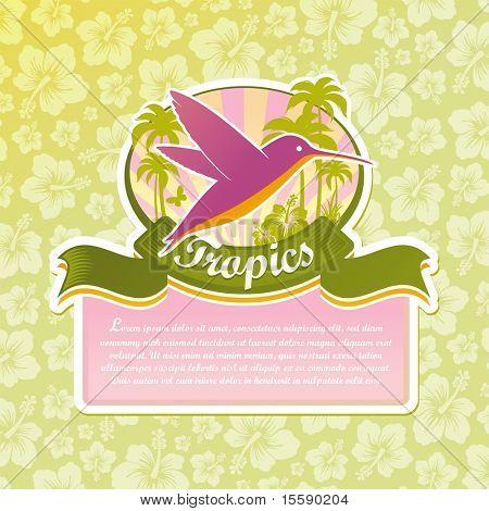 Vector tropical travel emblem