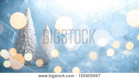 Fir tree on abstract background