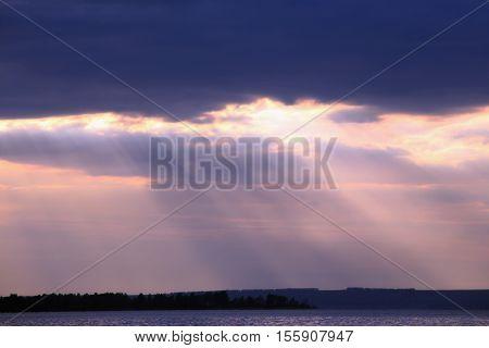Cumulonimbus Over The River