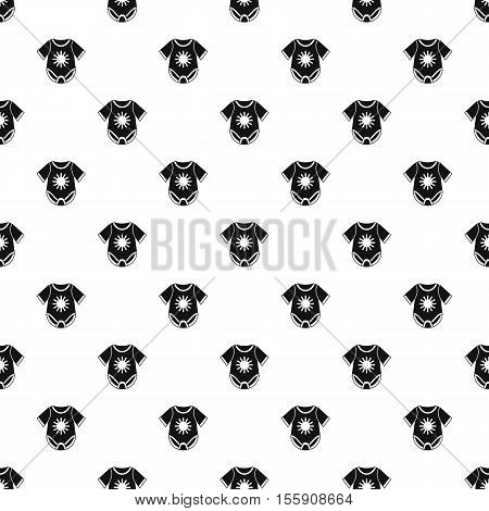 Baby bodysuit pattern. Simple illustration of baby bodysuit vector pattern for web