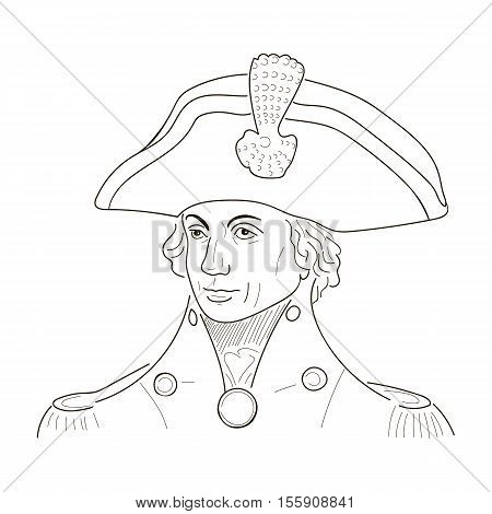Vice Admiral Horatio Lord Nelson. Sketch illustration. Vector