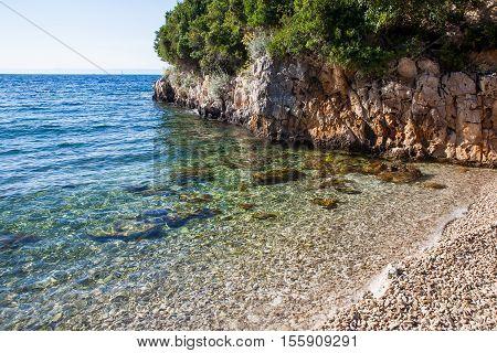 Blue Ocean on Sunny Day at the Beach