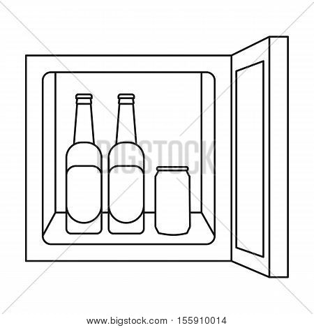 Mini-bar icon in outline style isolated on white background. Kitchen symbol vector illustration.