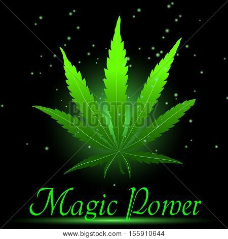 Magic ganja leaf for your design vector illustration