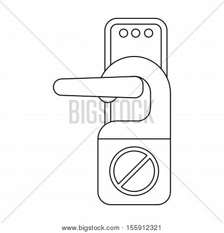 Do not disturb sign icon in outline style isolated on white background. Hotel symbol vector illustration.