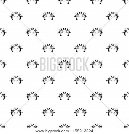 Crossed paintball guns pattern. Simple illustration of crossed paintball guns vector pattern for web
