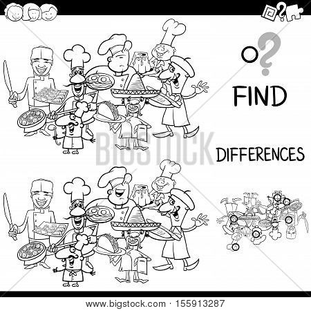 Differences With Cooks Coloring Page