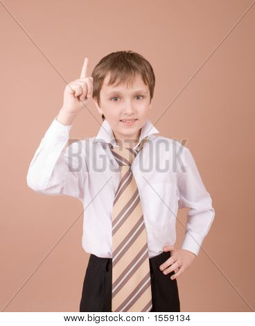 Young Businessman  Finding The Idea