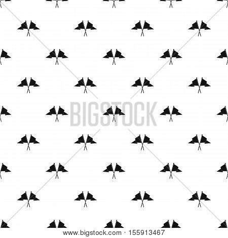 Crossed flags pattern. Simple illustration of crossed flags vector pattern for web