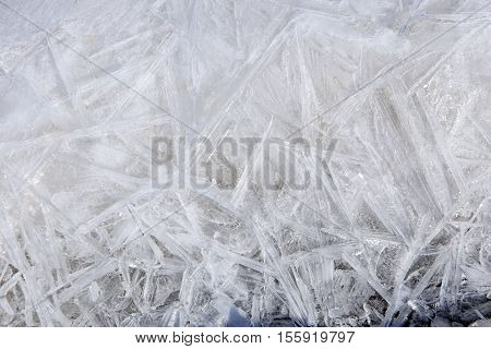 Texture Of Ice In The Sunshine