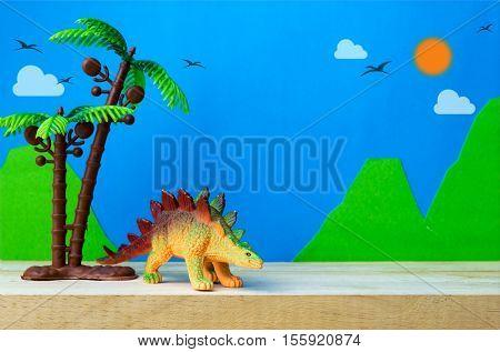 Stegosaurus toy model on wild models background