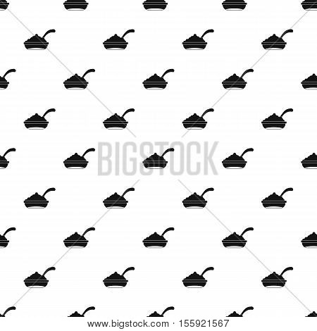 Bowl of caviar with spoon pattern. Simple illustration of bowl of caviar with spoon vector pattern for web