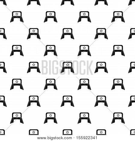 Earflaps russian hat pattern. Simple illustration of earflaps russian hat vector pattern for web