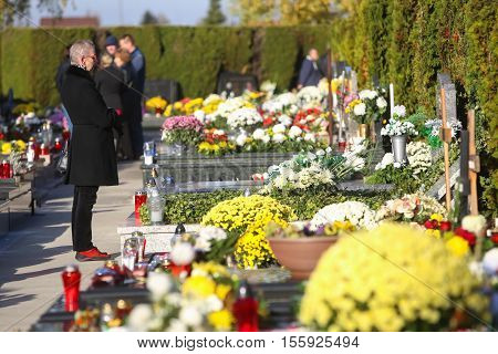 Floral Arrangements On Graves