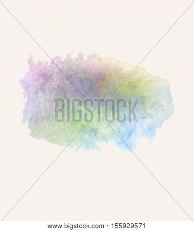Colorful watercolor aquarelle texture. Aquarelle spot on  white background