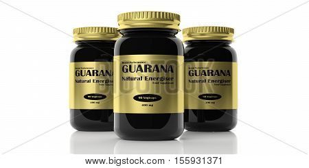 3D Rendering Bottles With Guarana