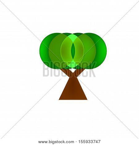 tree vector design logo on white background