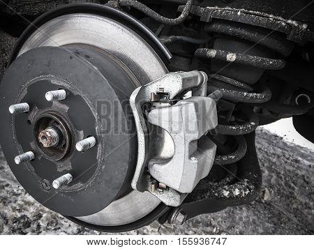 Replacing Wheel On Modern Car, Close-up