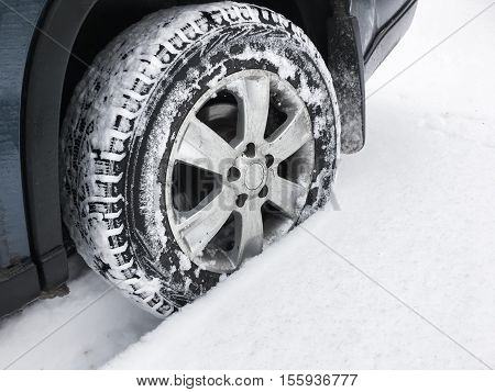 Suv Car Wheel With Studded Tire