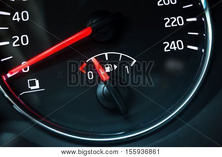 Fuel Gauge Mounted In Speedometer