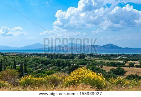 Greece Dodecanese Kos view from the Asclepieion archaeological site