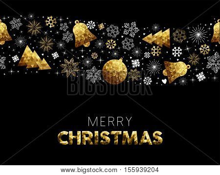 Merry Christmas Gold Decoration Pattern Card